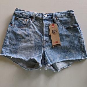 NEW Levi's 501 high waist tie dye cutoff shorts